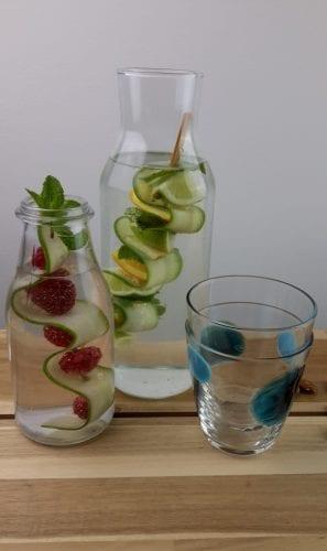 water met groente en fruit of stevia en erythritol