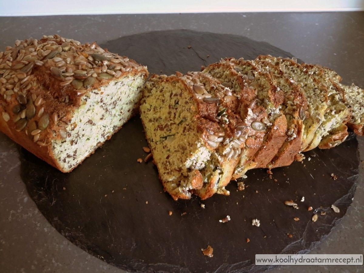 Courgettebrood met pitten en zaden