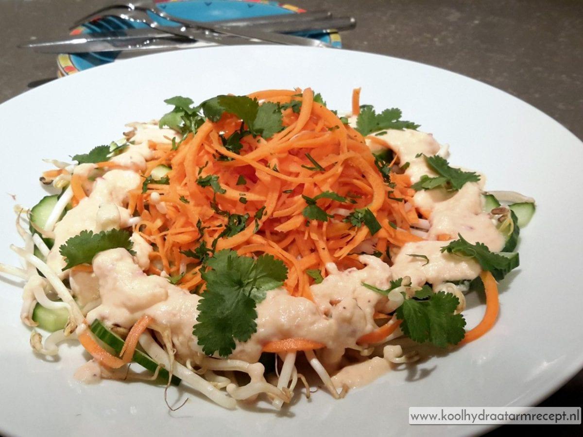 Thaise wortel taugésalade