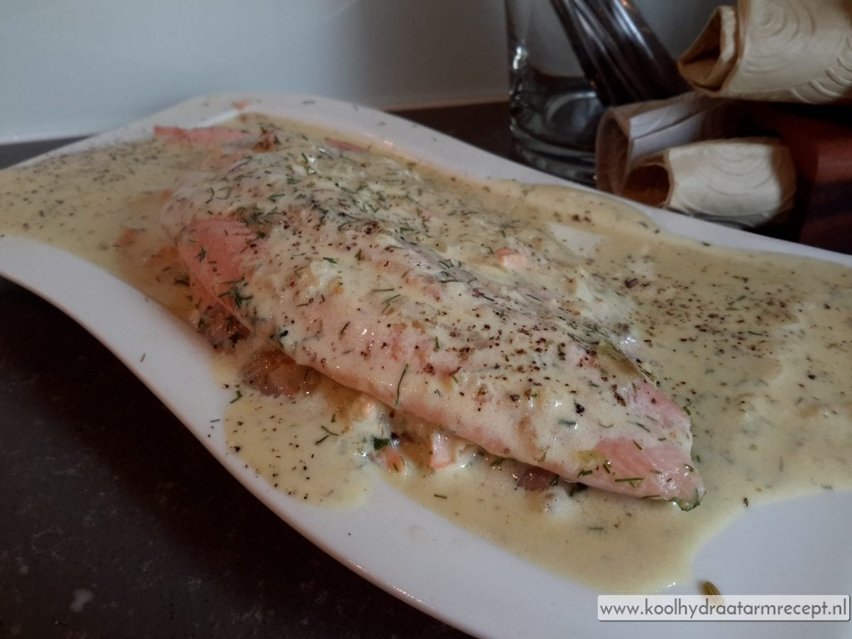 Zalm in dille roomsaus