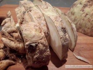 knolselderij makreel hapjes