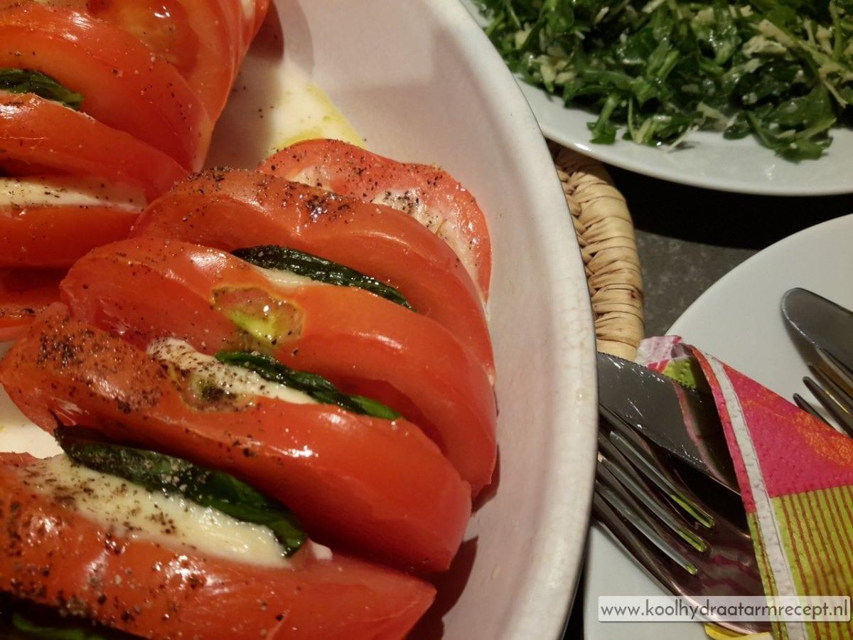 Caprese, tomaat uit de oven