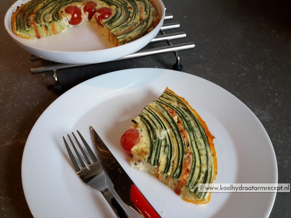 Spiraal groentetaart