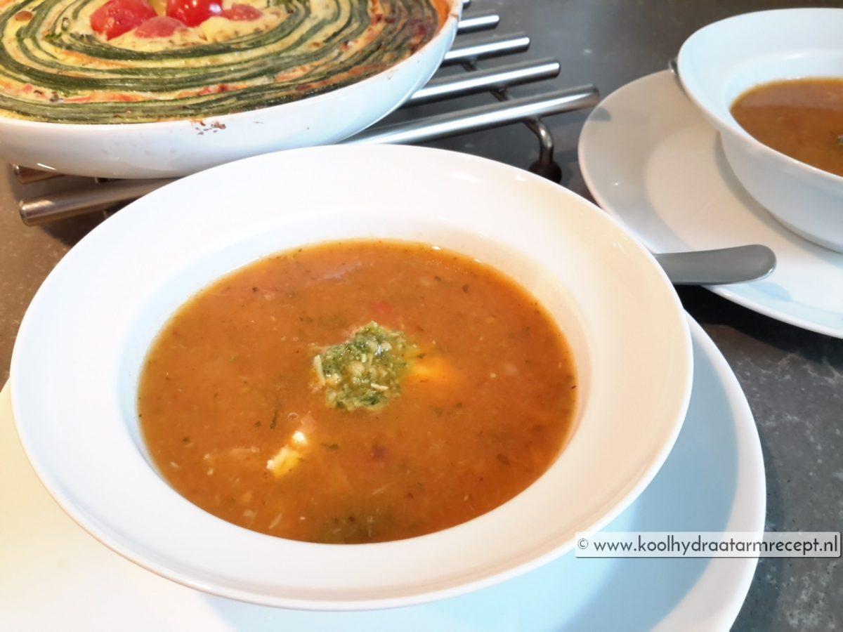 Leftover tomatensoep