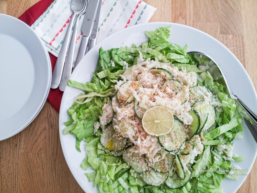 koolrabi komkommer salade