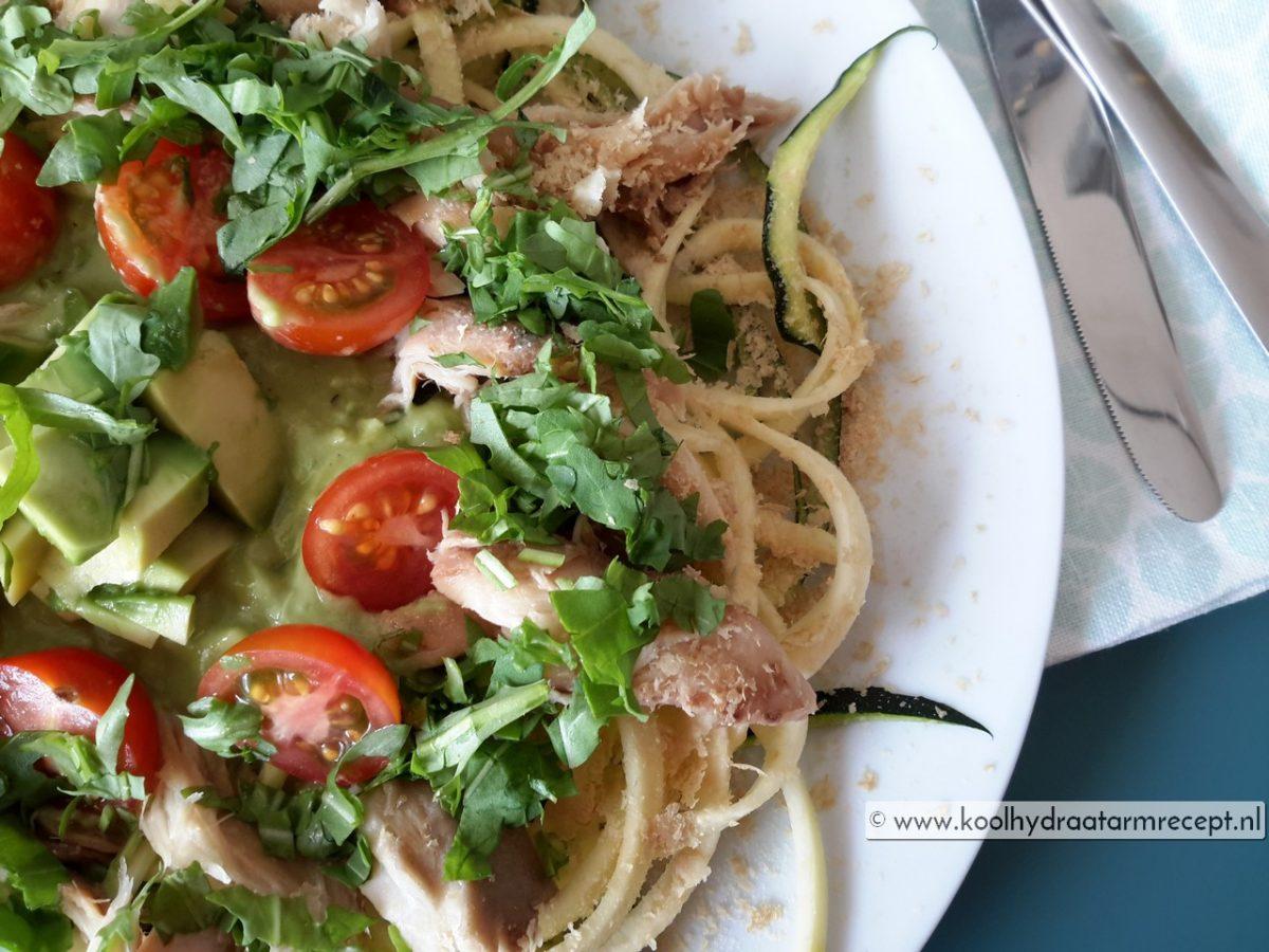 Courgette makreel salade, anders dan anders
