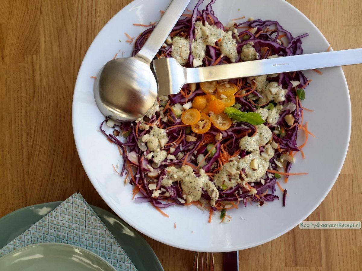 Rode koolsalade, kleurrijk en knapperig!