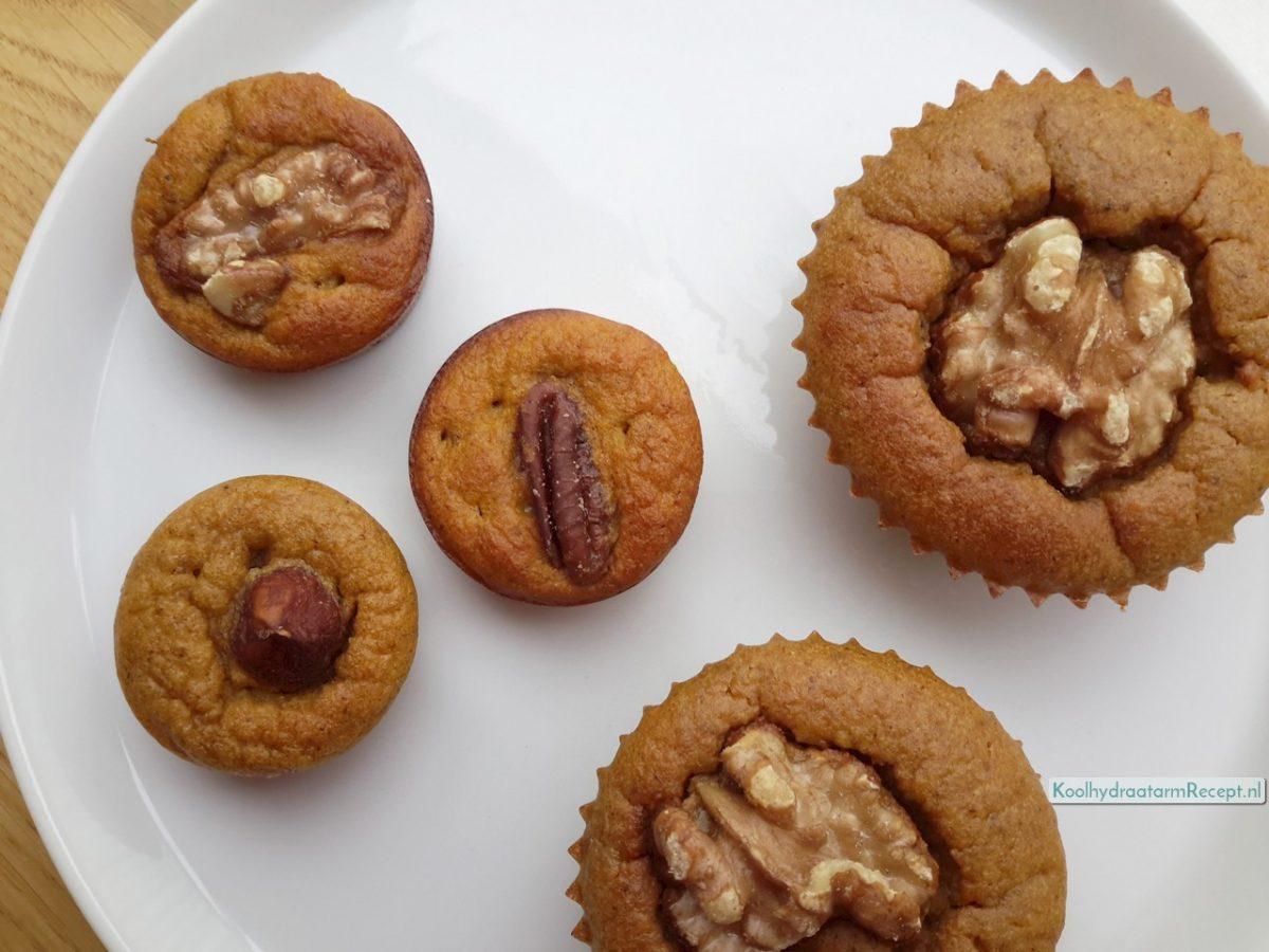 Pompoenmuffins met walnoot, zoet