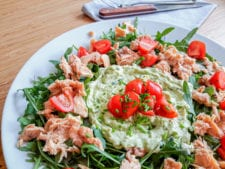 rucola salade met zalm