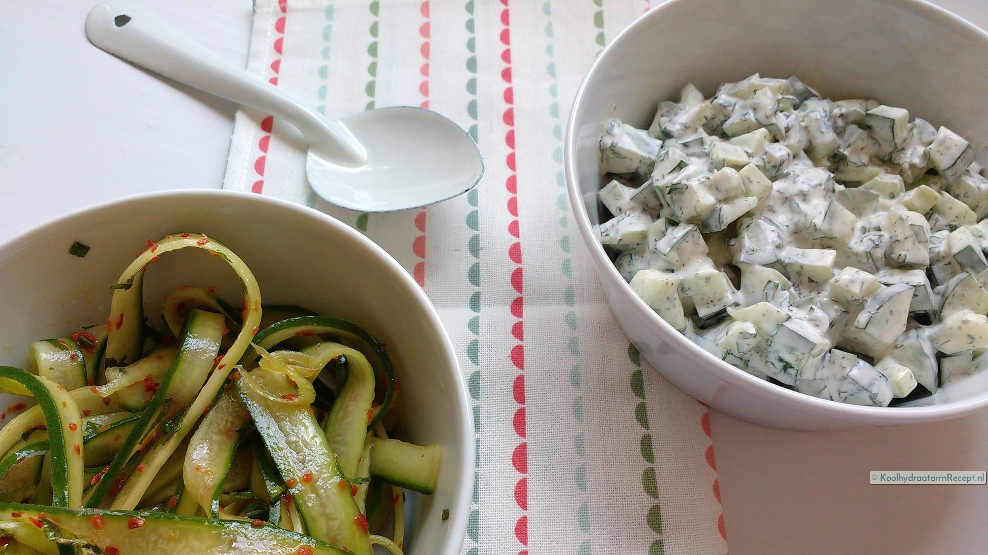 Komkommersalade 2x anders