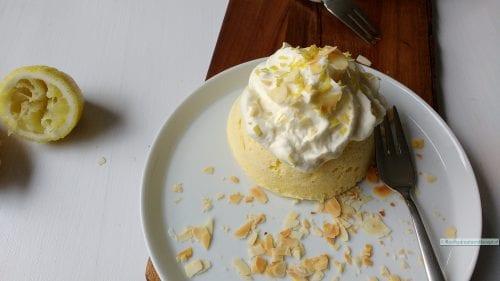 koolhydraatarme mugcake, citroen mugcake