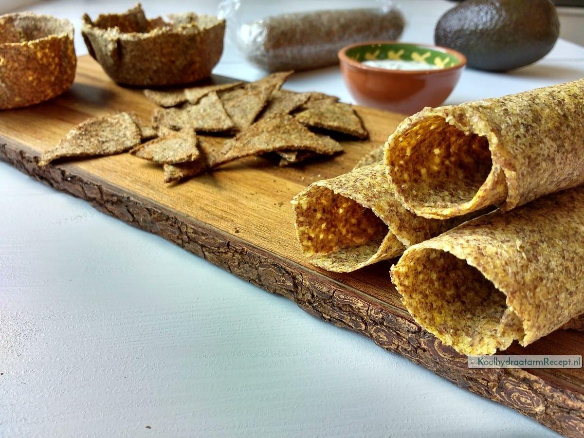 Koolhydraatarme tortilla, taco of nachochips!