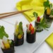 Nori rolls met komkommer- 6 rolletjes op en schaaltje