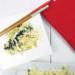 witte koolsalade met munt, salade in een kommetje met stokjes