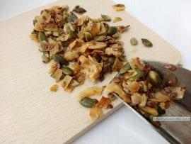 homemade granola, close