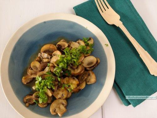 gebakken champignons, simpel bijgerecht