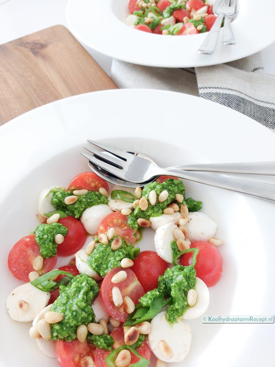 Caprese Italiaanse lunchsalade