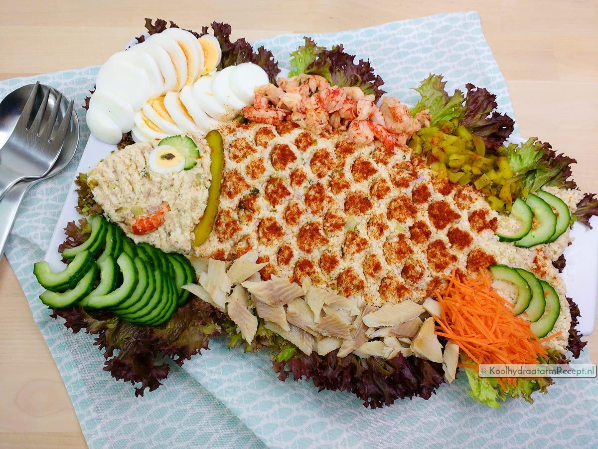 Huzarensalade met vis (of vlees)