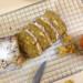notencake met appel, van boven in plkjes gesneden