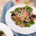 salade gerookte zalm met zeewier