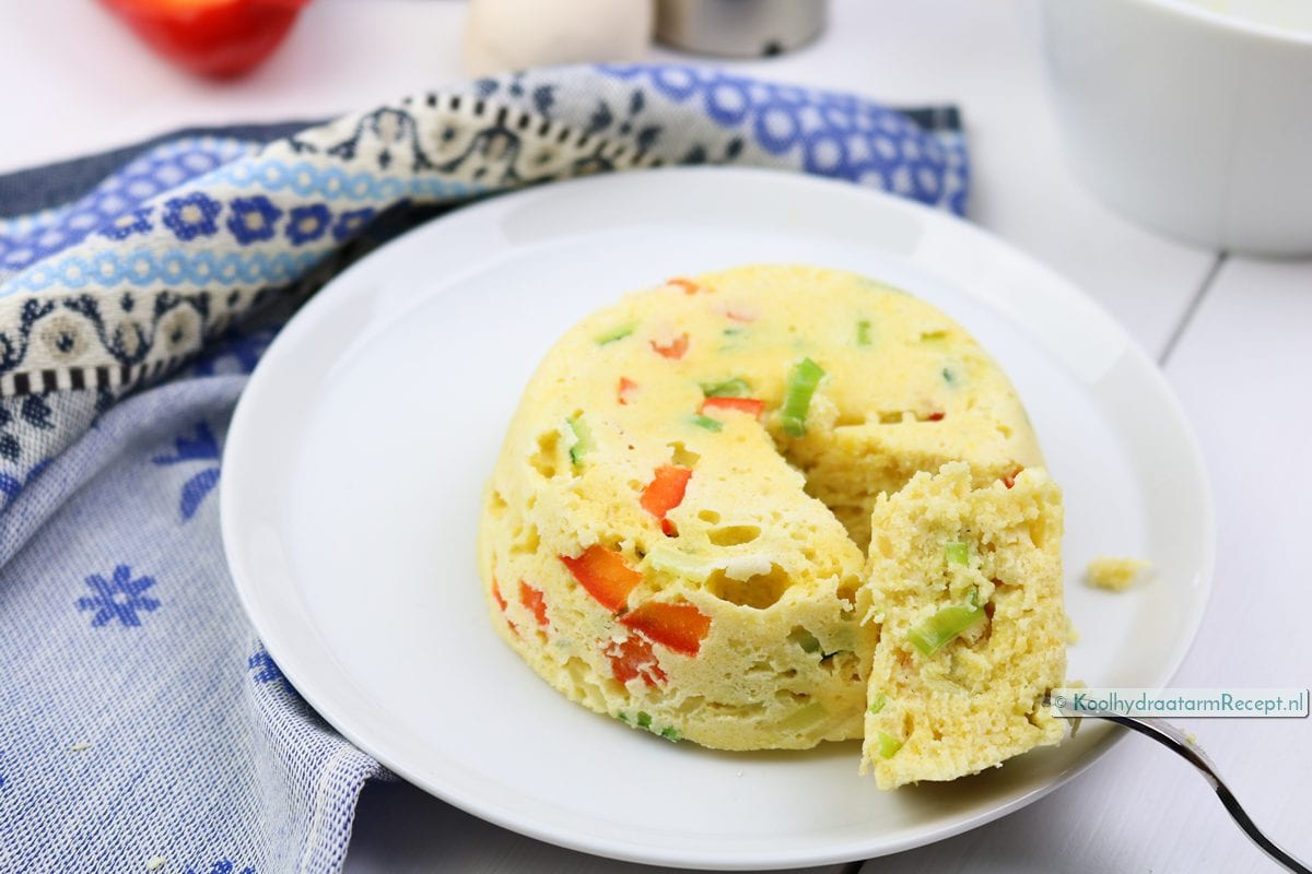 groente mugcake, smullen maar!