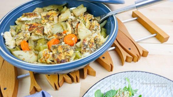 Tajine met vis en groente