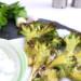 geroosterde broccoli met muntsaus