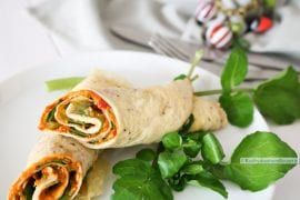 Omeletrolletjes gevuld, lunchwrap of borrelhap