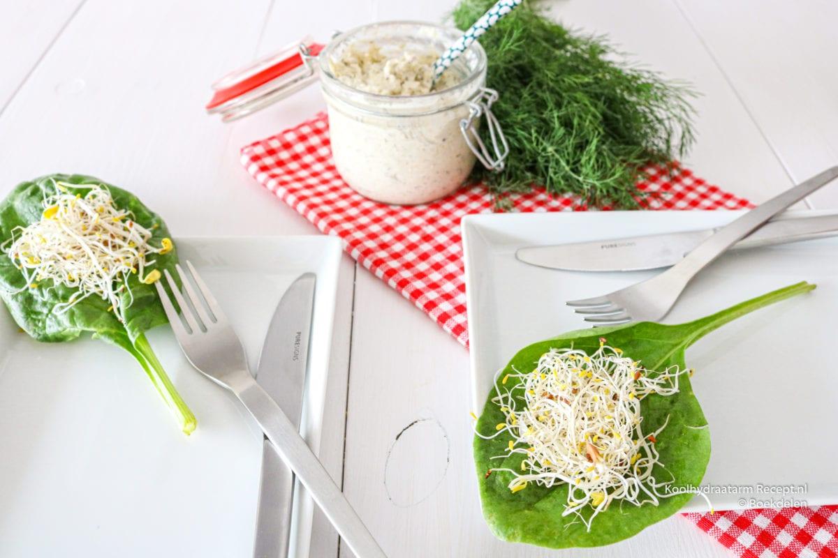 spinazie omelet met venkeltapenade