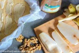 taartje met peer en kaas, ingrediënten
