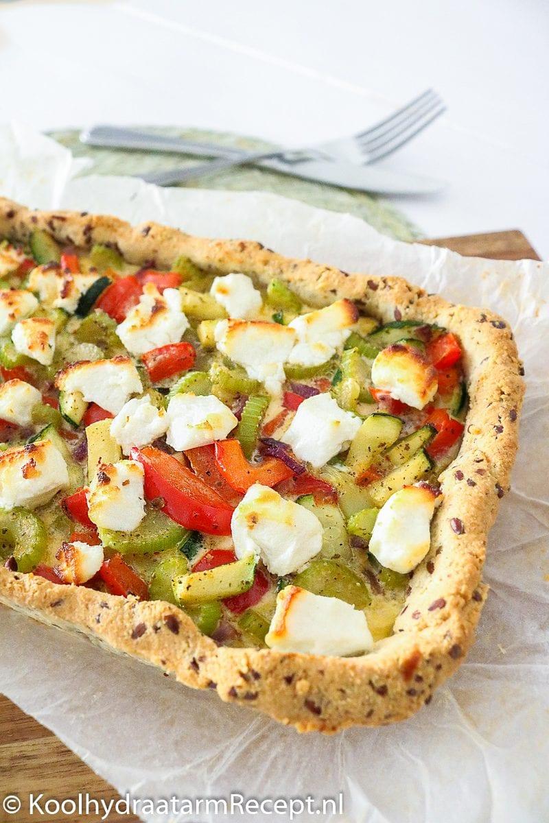 koolhydraatarm groentetaartje