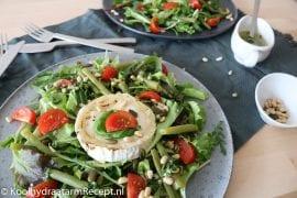 gegrilde geitenkaas salade