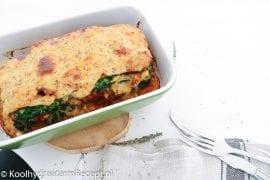 Koolhydraatarme lasagne met broccoli en champignons