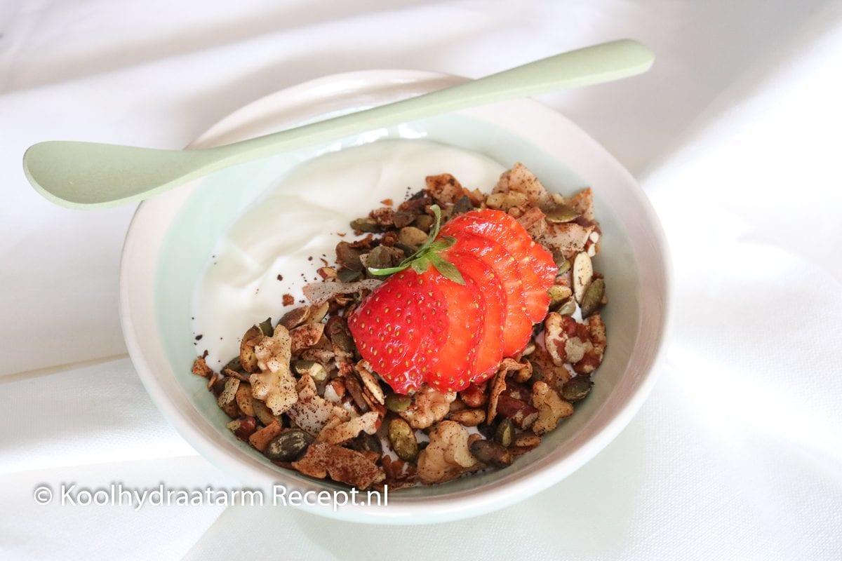 koolhydraatarm ontbijt vers geroosterd