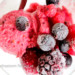koolhydraatarm sorbetijs van rood fruit