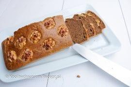 Peperkoek met walnoten, lowcarb ontbijtkoek