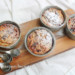 ricotta taartjes met rood fruit