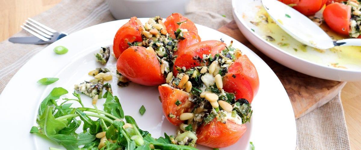 gevulde tomaten kroontjes, simpel en feestelijk | koolhydraatarm