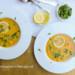 oosterse koude wortelsoep met citroen en koriander