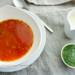 tomatensoep met peterseliepesto