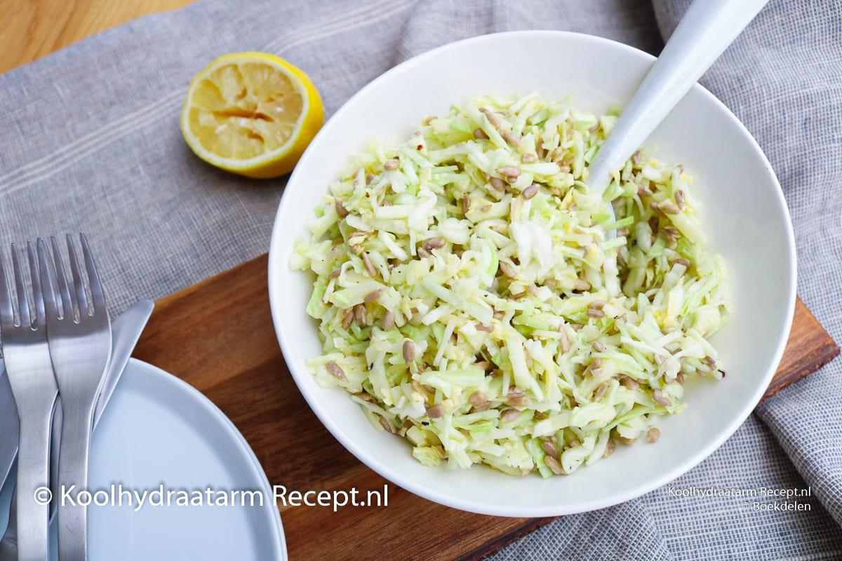 witte kool salade met kaas en citroen