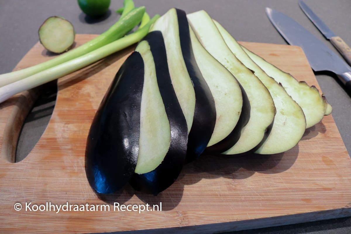 auberginerolletjes met amandelpesto
