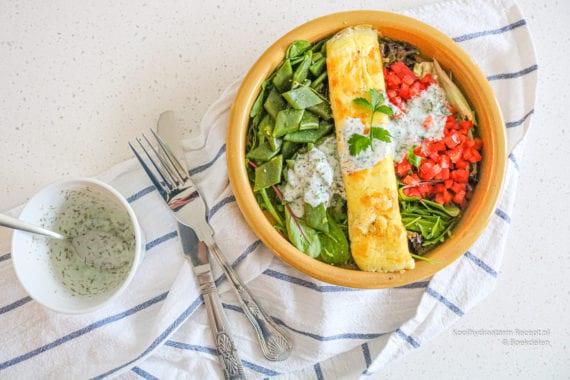koolhydraatarme salade met snijbonen en paprika