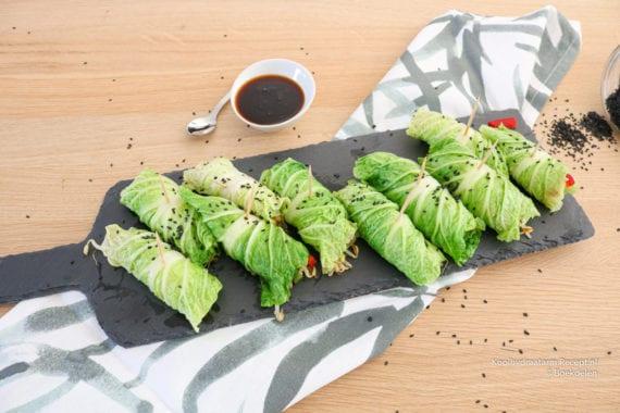 Chinese koolrolletjes met groente