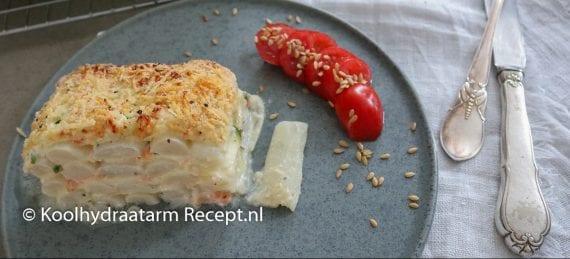 asperge lasagne met zalm