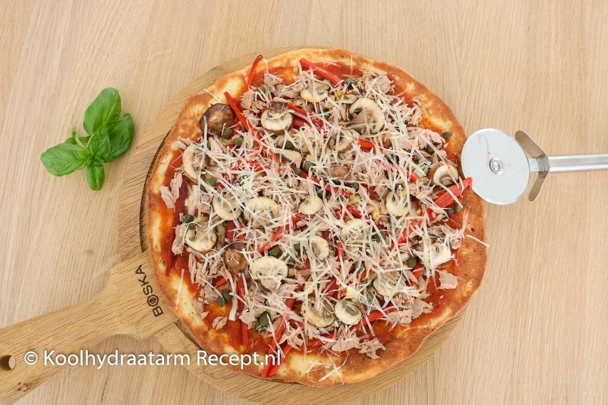 koolhydraatarme tonijnpizza!