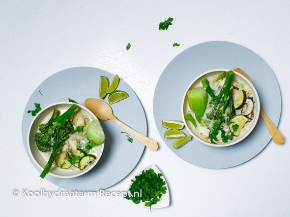 gevulde groentesoep met kabeljauw