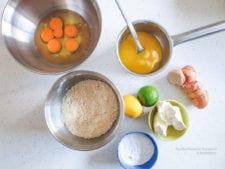 koolhydraatarme citroencake -ingrediënten