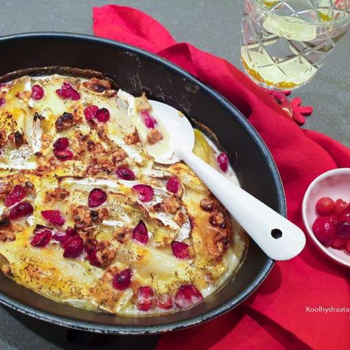 Witlof met camembert en cranberry's