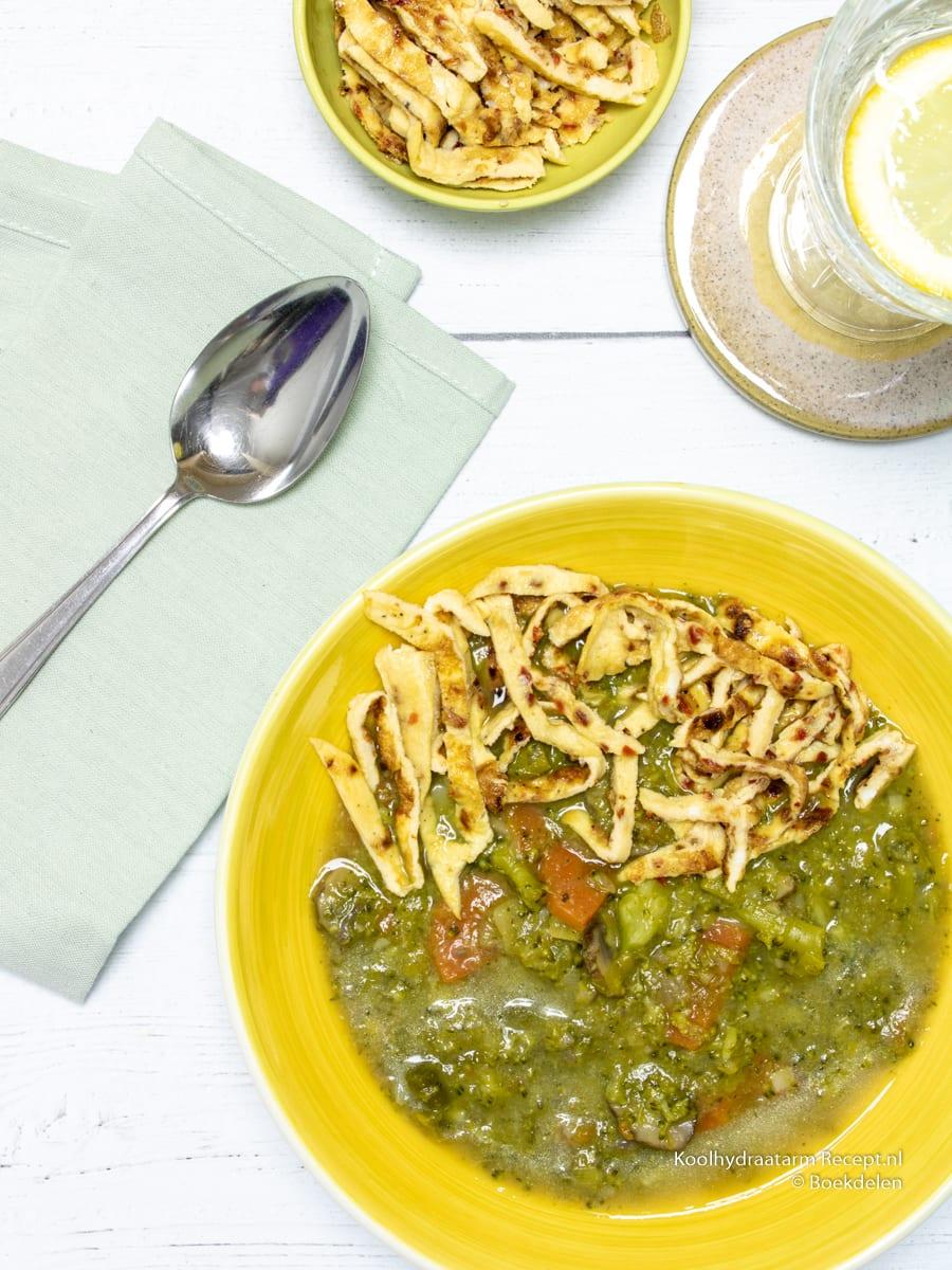 eiwitrijke prei broccolisoep, eten tijdens de nachtdienst